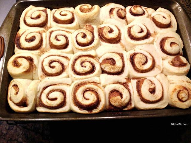 eggless cinnamon rolls recipe using tangzhong method