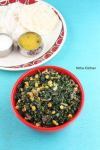 Kale Stir Fry | Keerai Paruppu Poriyal