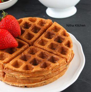 Eggless Apple Cinnamon Waffles