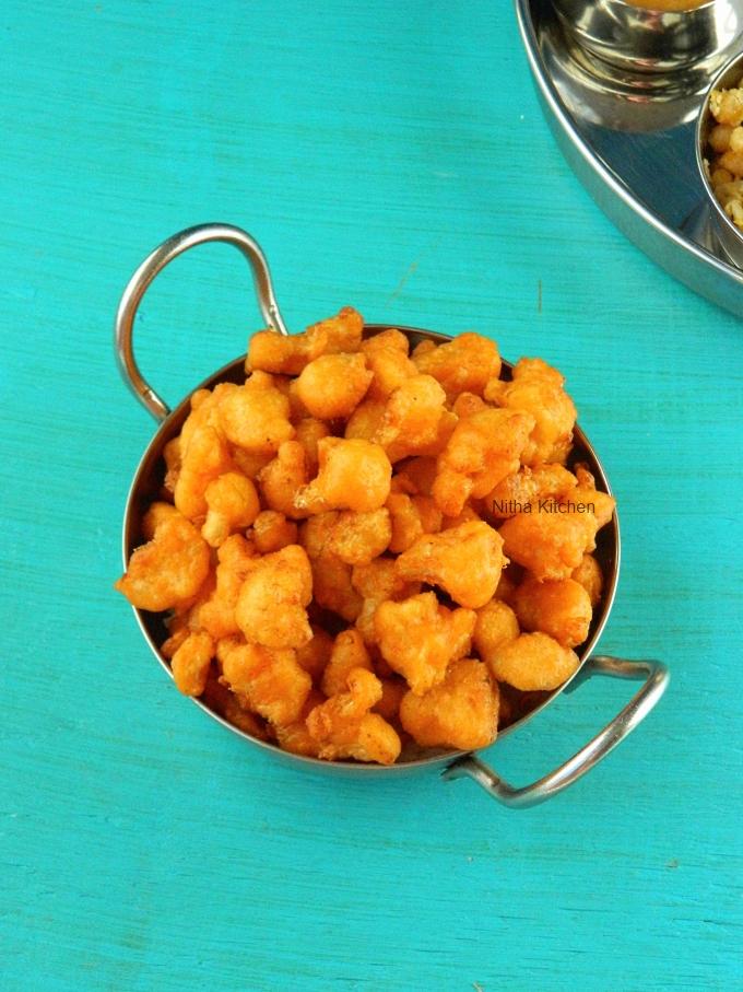 Cauliflower Pakoda Gobi Pakora
