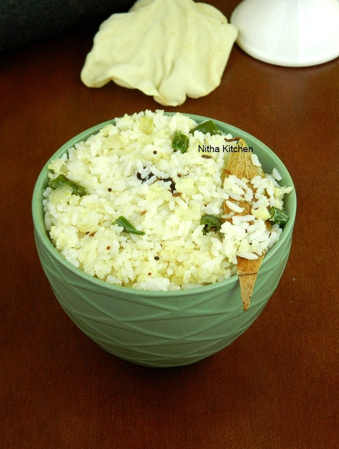 Cauliflower Ghee Rice Recipe