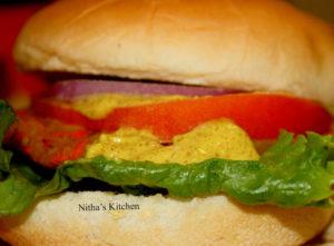 Burger with Veg Patti