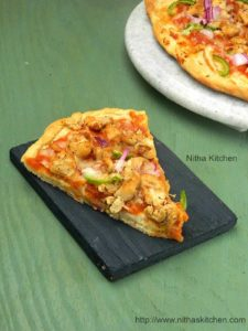 Homemade Chicken Pan Pizza From Scratch | Pizza With Thick Base