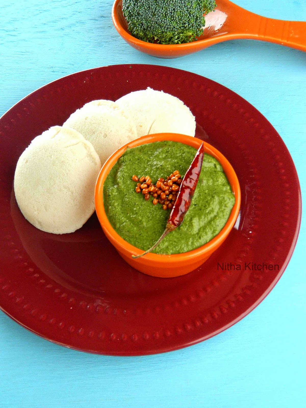 Broccoli Chutney Stuffed Kuzhi Paniyaram Recipe