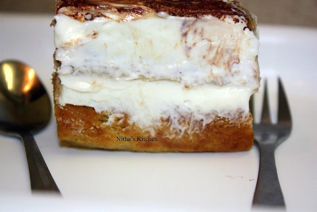 Mango and Vanilla Cake based Tiramisu | All from Scratch