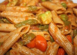 Whole Grain Penne Veggie Pasta | Indian Way