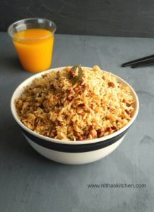 Arisiyum Paruppu Sadham | Dhal Lentil mixed Spicy Rice