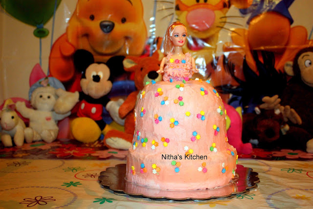 Princess Birthday Cake for my Sweet Princess :-) | Complete Tutorial on Princess Birthday Cake