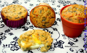 Baked Egg Bonda   Savory Boiled Egg Muffins