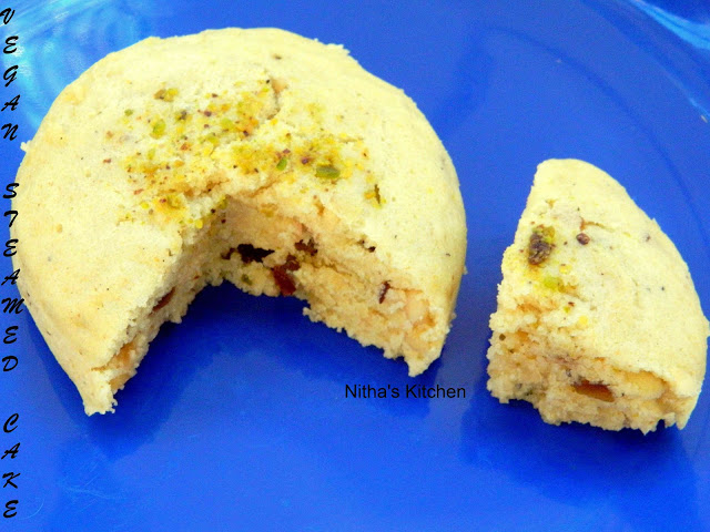 Vegan Elachi | Coconut Milk Flavored Steamed Nuts Cake