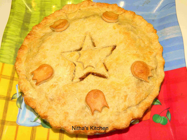 Apple Pie with Homemade Pie Crust Using 8″ Cake Pan