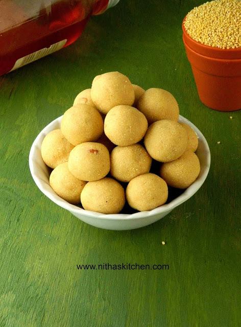 Ancient Thinai Urundai Foxtail Millet Ladoo | தேனும் திணை மாவும்