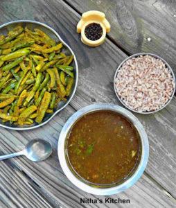 Pepper Rasam with Restaurant Style Tindora Fry