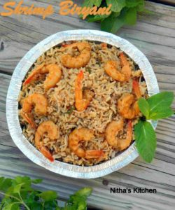 Shrimp Biryani | Biriyani with Homemade Masala Powder
