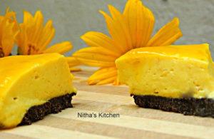 Eggless and No Bake Mango Cheese Cake