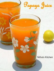 Fresh and Healthy Papaya Juice | Refreshing Vegan Drink