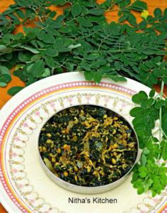 Murungakeerai Poriyal (with Toor Dhal) | Drumstick Leaves Stir Fry