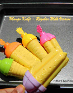 Regular Milk based Mango Kulfi Recipe | No Condensed Milk | No Heavy Cream | Mango Popsicles Version II