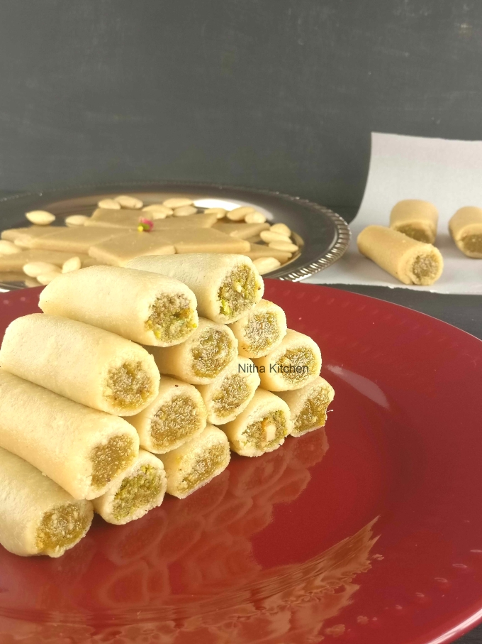 Almond Pista Roll Video Recipe