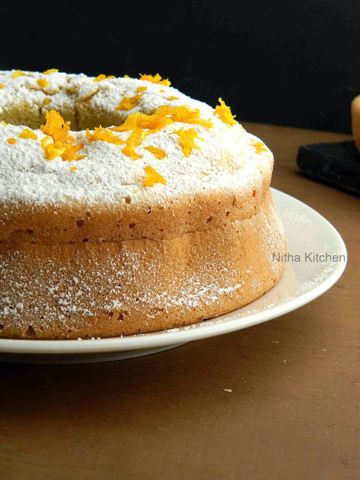 Orange Glow Chiffon Cake | Orange Sponge Cake Recipe