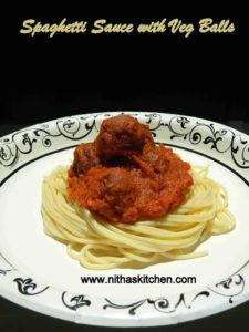 Spaghetti with Meatless Meat balls | Vegetarian Paneer Kofta n Sauce Recipe