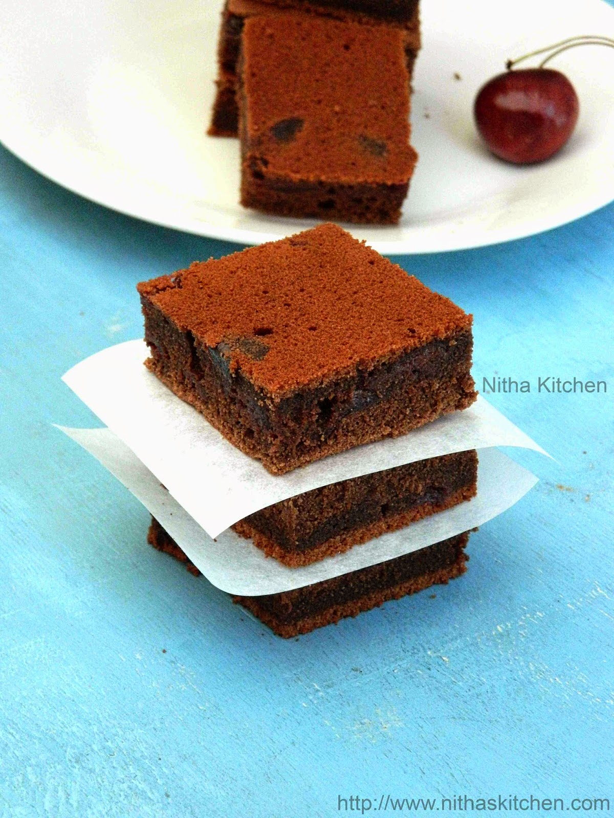 Chocolate Cherry Brownies Recipe Using Homemade Alcohol Free Cherry Syrup