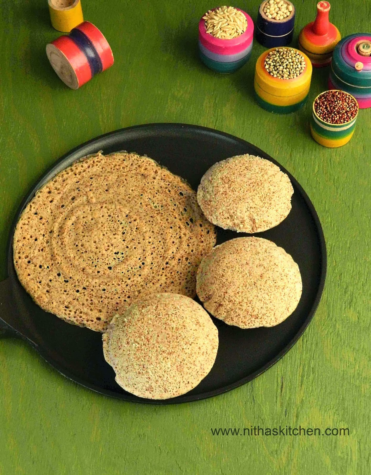 Whole Grain Millet Idli Dosa Batter Recipe | Homemade Multigrain Idli Batter