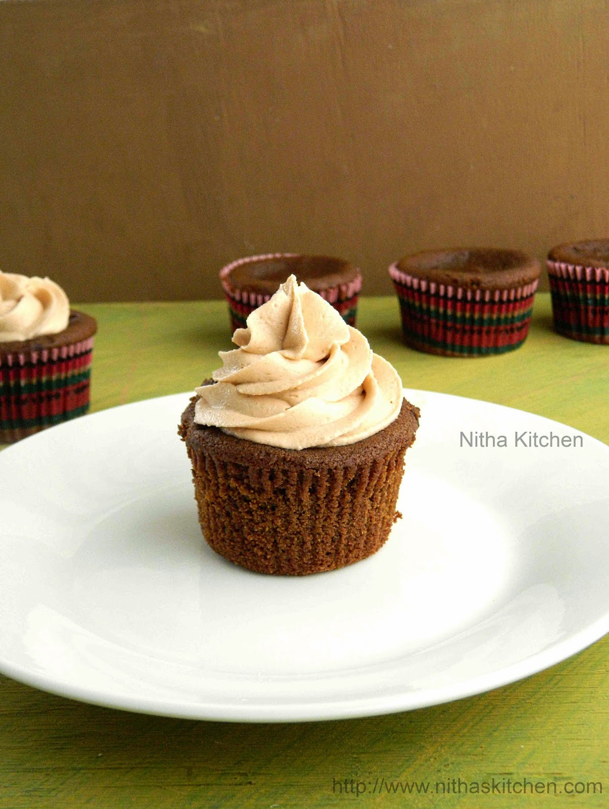 Eggless Chocolate Coffee Cup Cakes | Coffee Flavored Ghostly (Or) Mummy Cupcakes