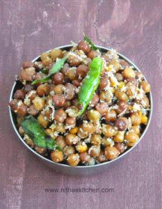 Kala Chana    Karuppu Kondai Kadalai Sundal   Black Chickpeas Stir Fry