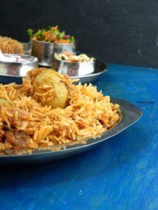 Roasted Baby Potato Biryani Recipe