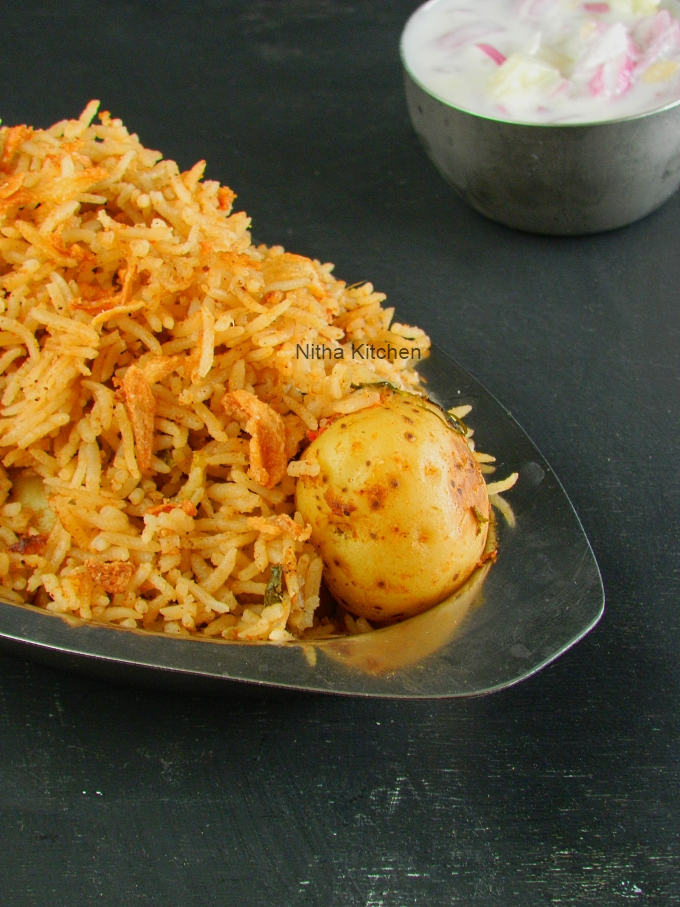 roasted baby potato biryani recipe
