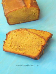 Yeast Free Ginger Pumpkin Bread with Pumpkin Icing   Eggless Mini and Egg based regular loafs