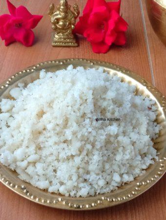 kongunadu arisi maavu thevaiyam , sweet rice puttu recipe