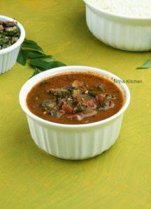 Vendakkai Puli Kuzhambu   Ladies Finger Okra in Tomato Tamarind based curry