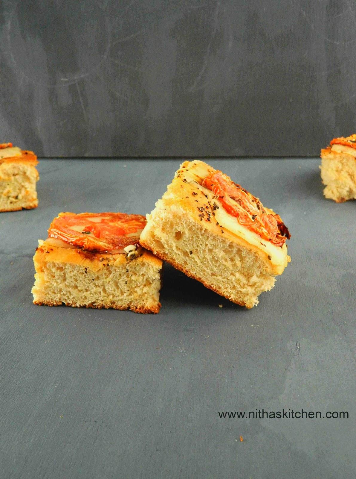 Focaccia Caprese | Italian Flat Bread Recipe