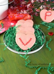 Egg-Less Valentine Cookies Coated With Candy Melts | Basic Sugar Cookies Decorated With Sugar Sprinkles