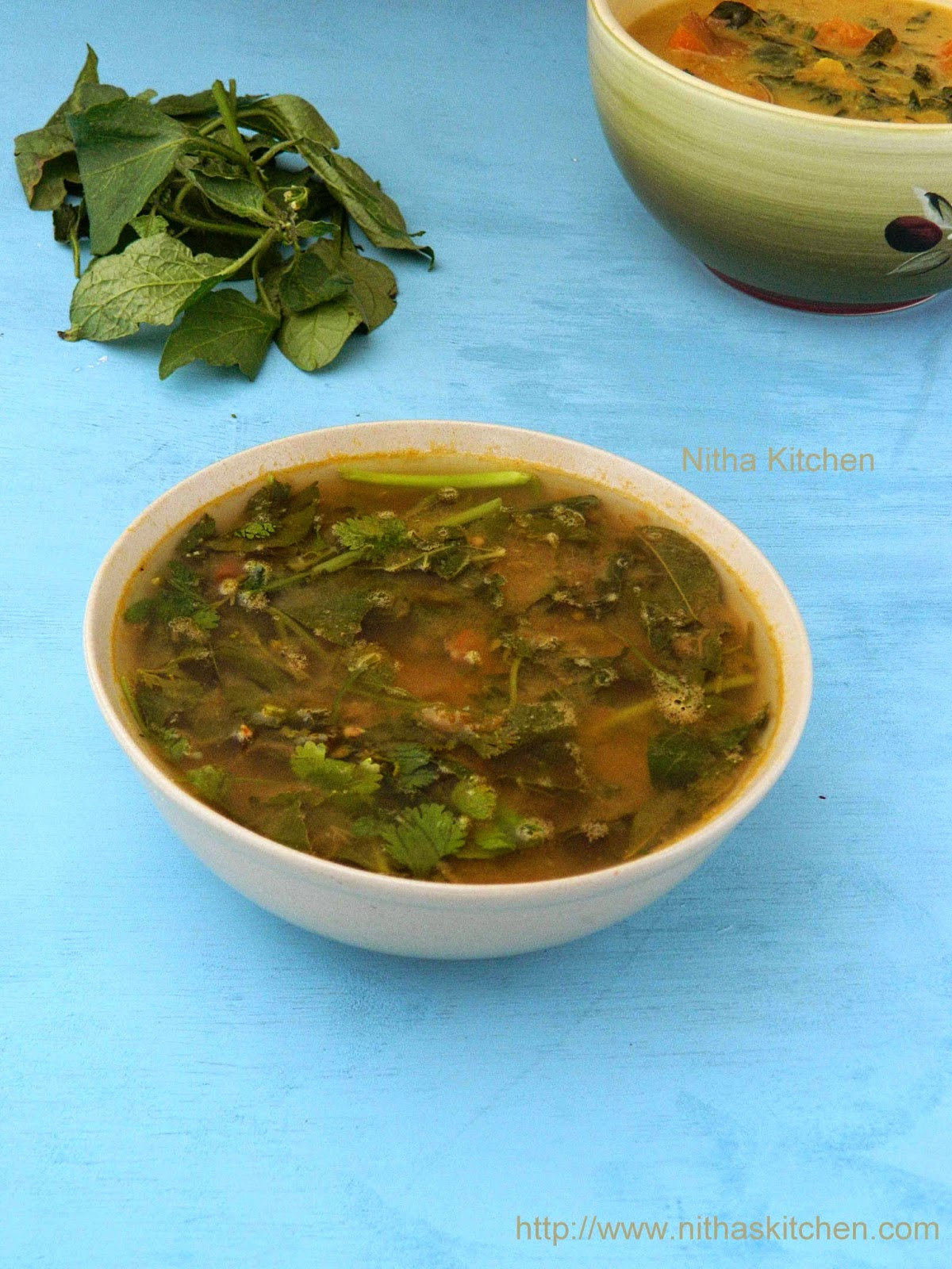 Manathakkali Keerai Rasam Recipe | Herbal Dal Soup