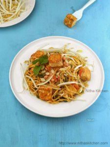 Tofu Pad Thai Noodles Recipe | Vegan Vegetarian Pad Thai Recipe