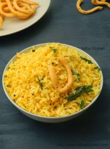 Murukku Podi Sadham | One Pot Meal with Powdered Chakli