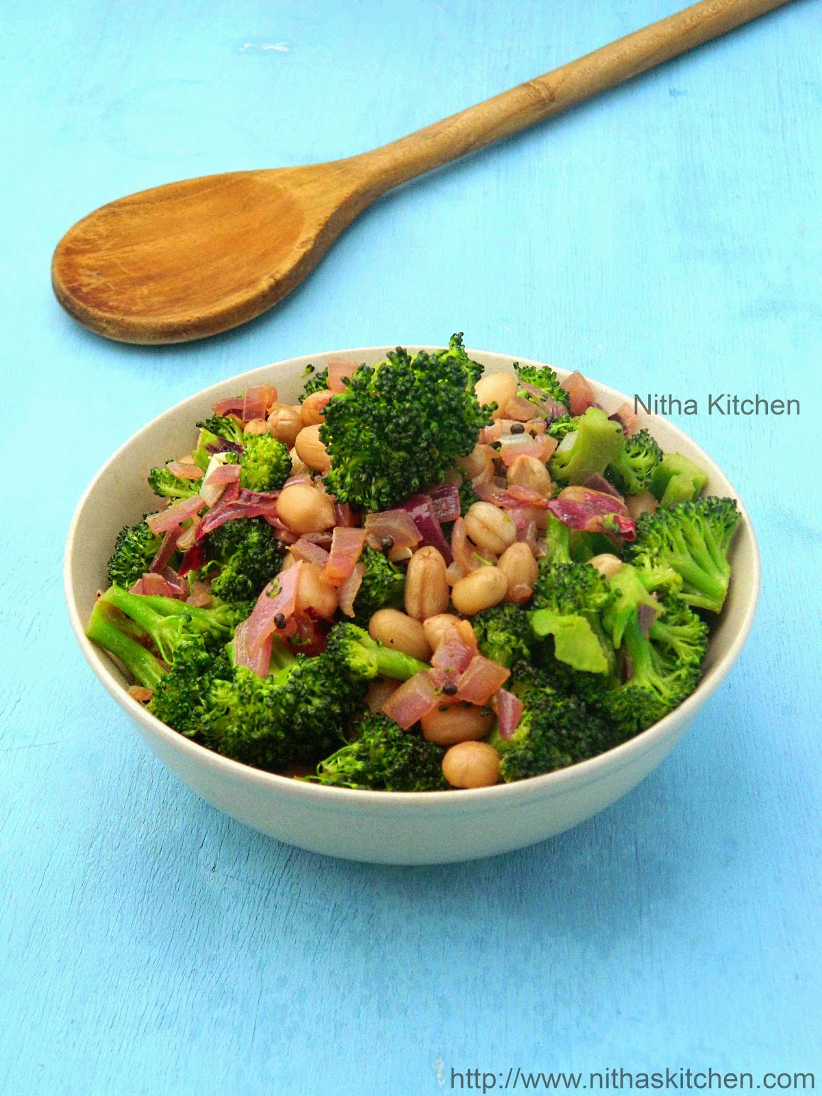 Broccoli Peanut Stir Fry | Healthy Broccoli Poriyal or Salad Recipe