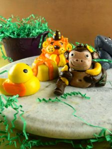 How to make Animal Fondants for Jungle Theme Cake | Marshmallow Fondant Figures