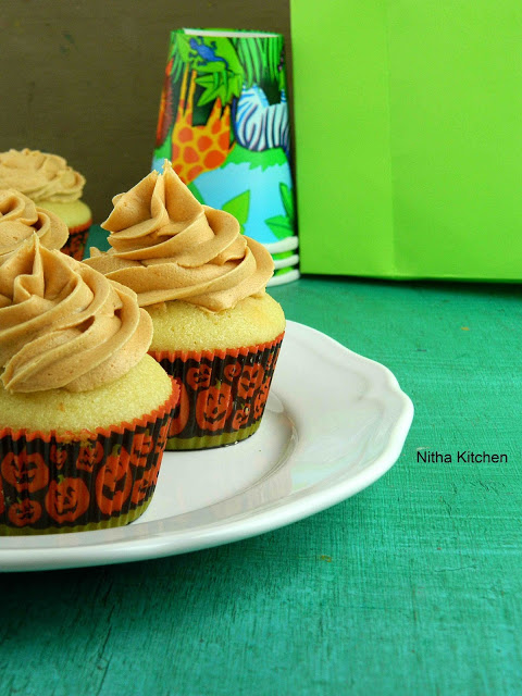 Party Vanilla Cupcakes with Butterscotch Butter Cream Frosting | A Scratch Recipe
