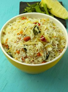 Raw Mango Rice | Mangai Sadam Recipe