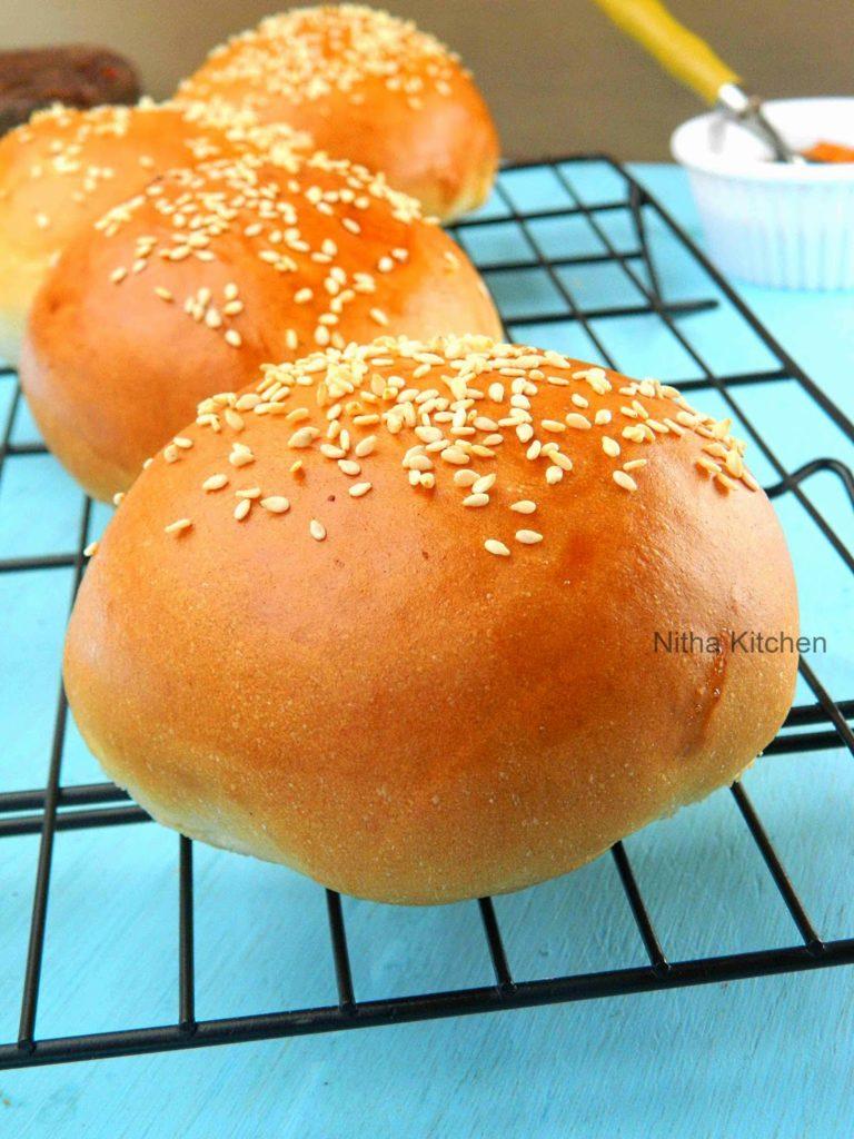 Burger Buns   Soft Dinner Rolls   Ladi Pav Buns From Scratch