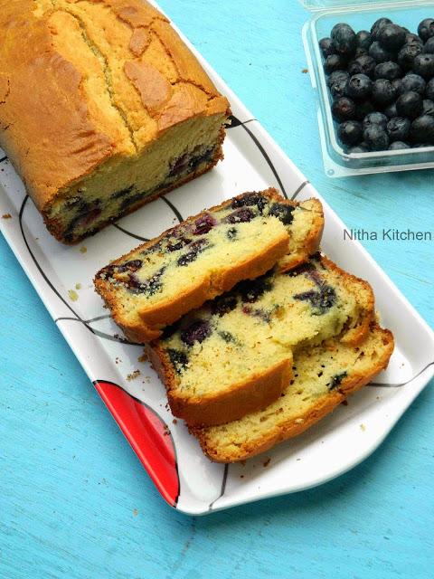 Blueberry Yogurt Pound Cake Recipe