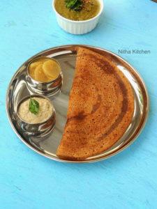 Ragi Brown Rice Dosa Batter | Homemade Ragi Dosa Batter From Scratch | How to make crispy Finger Millet Dosa
