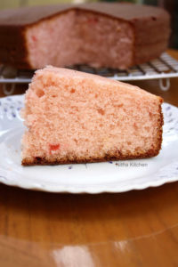 Rose Flavored Butter Cake in Pressure Cooker