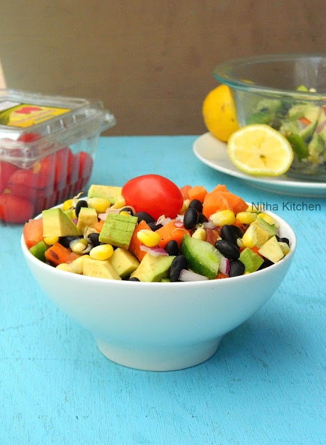 Black Bean Salsa Salad | Mixed Vegetable Sprouts Salad