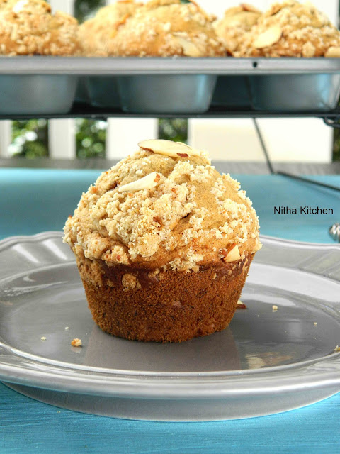 Eggless Banana Wheat Muffins Recipe