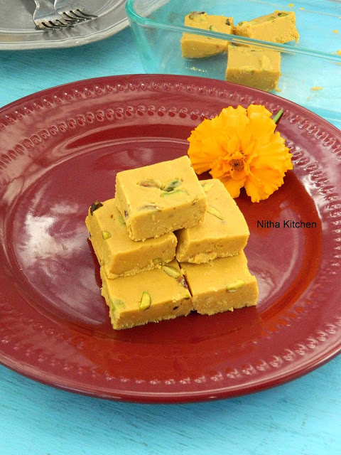 Besan Ki Burfi | Gram Flour Fudge | Reduced Ghee Barfi Version